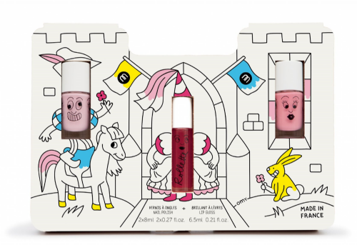 nailmatic® kids - Gift Set water based 2 nail polish, lip gloss Set - PRINCESS CASTLE